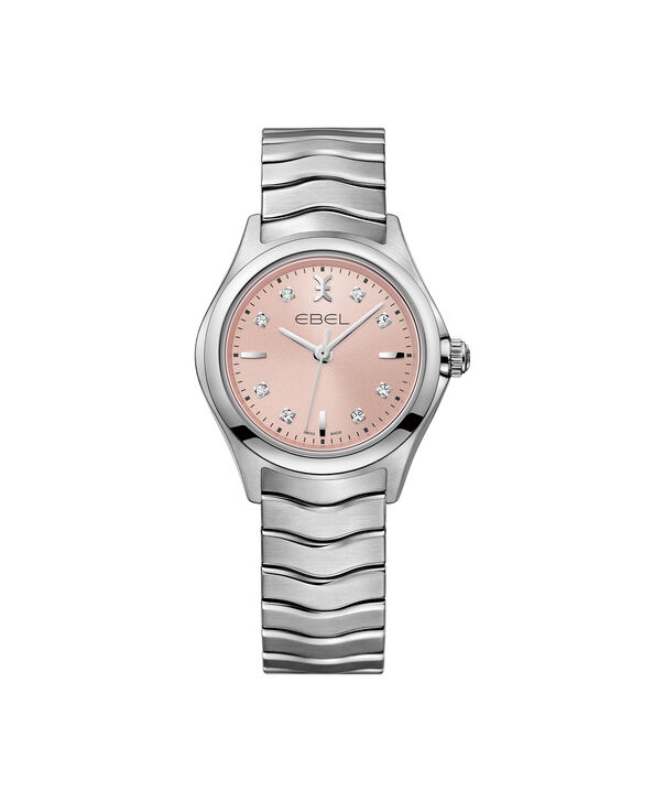EBEL | Women's Watch EBEL Wave, stainless steel case, pink galvanic dial