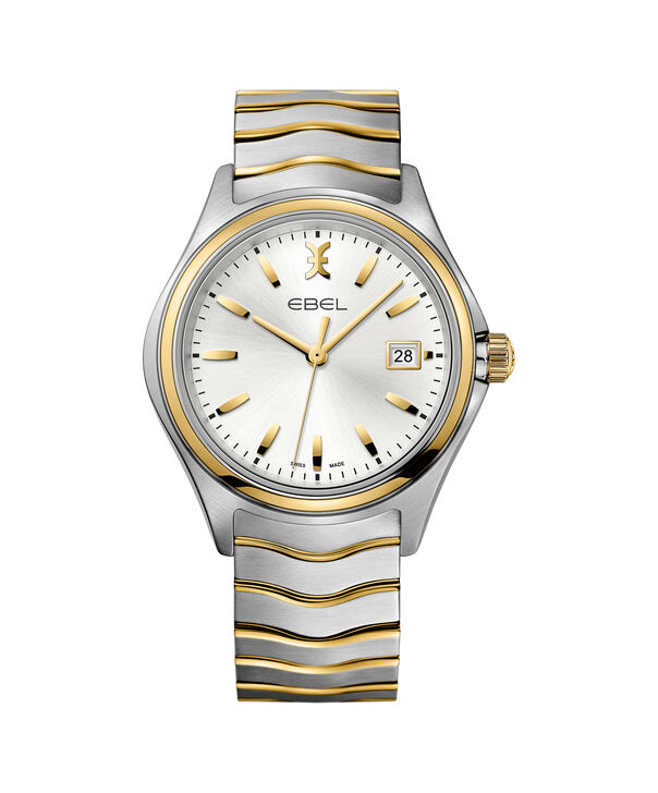 EBEL | Men's Watch EBEL Wave, stainless steel and 18K yellow gold case, silver galvanic dial