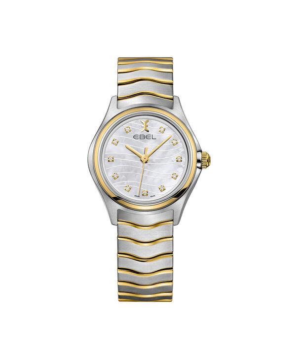 EBEL | Montre femme EBEL Wave, boîte en acier inoxydable et or jaune 18 carats, cadran nacre