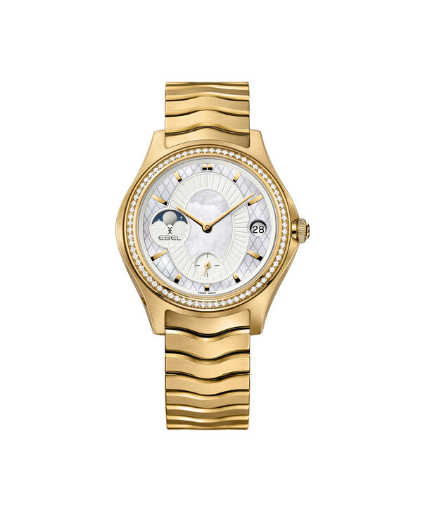 EBEL | Women's Watch EBEL Limited Edition, stainless steel and 18K yellow gold case with diamonds, mother-of-pearl dial
