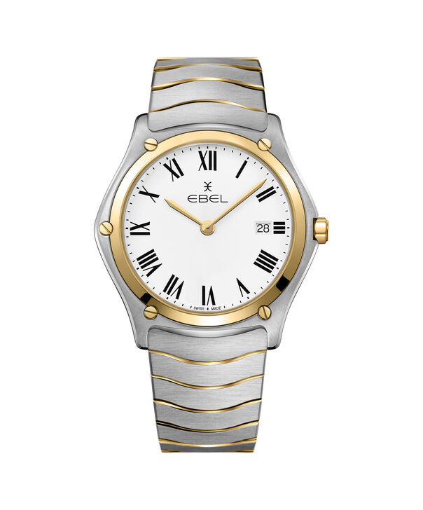 EBEL   Men's Sport Stainless Steel Watch with White Dial