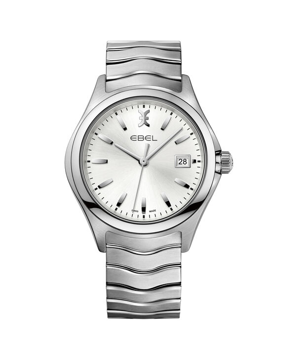 EBEL | Men's Watch EBEL Wave, stainless steel case, silver galvanic dial