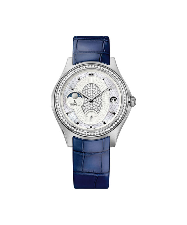 EBEL| Women's La Maison EBEL Limited Edition white gold watch with blue strap.