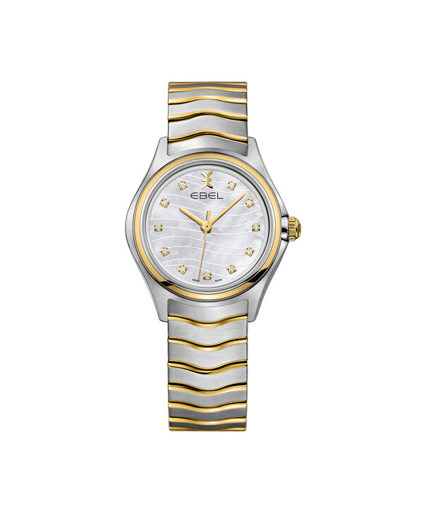 EBEL | Women's Watch EBEL Wave, stainless steel case, white Mother of Pearl galvanic dial with diamonds