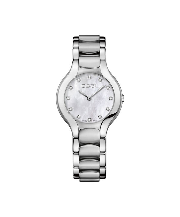 EBEL | Women's Watch Beluga Lady, stainless steel case, white mother-of-pearl dial with diamonds