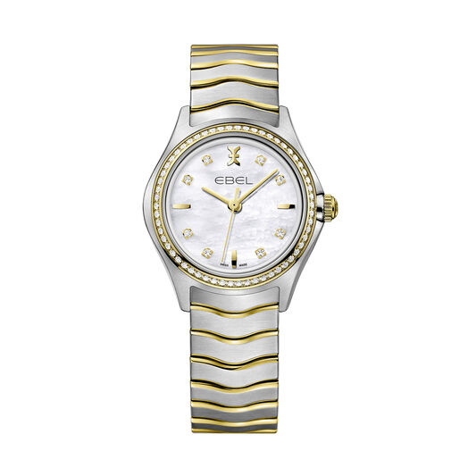 EBEL Ladies Wave Stainless Steel & Yellow PVD Watch